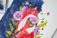 fox + flora. work in progress. by oanabefort, via Flickr