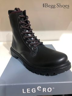😯 WOW is all we can say about these Legero leather boots! 😍 💧With Gore-Tex lining these are a must-have this winter - you'll be right on trend with this style! 👍 Get them here 👉 www.beggshoes.com/legero-monta-loop-gtx-2009670-0200 #legero #boots #leatherboots #laceupboots #goretex #waterproof Leather And Lace, Leather Boots, Black Leather, Women's Lace Up Boots, Bags 2014, Boots Store, Waterproof Shoes, Gore Tex, Shoe Brands