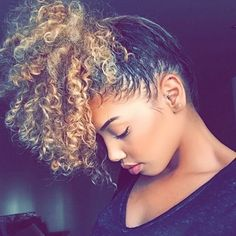***Try Hair Trigger Growth Elixir*** ========================= {Grow Lust Worthy Hair FASTER Naturally with Hair Trigger} ========================= Go To: www.HairTriggerr.com ========================= Cute and Curly 2 Toned Pineapple Pony!