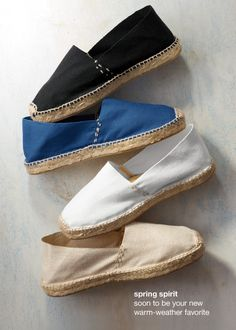 espadrille flats - I love these! All the colors are great - blue may be most practical for me. J. Jill - where else?