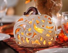 Cut-Out Pumpkin Candle Holder | Kirklands