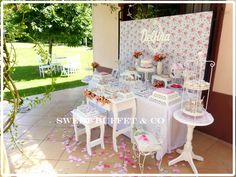 Sweet Buffet & Co 's Birthday / Shabby chic - Photo Gallery at Catch My Party Shabby Chic Birthday Party Ideas, Sweet Buffet, Girl Shower, First Birthdays, Real Weddings, Birthday Parties, Table Decorations, Baby, Home Decor