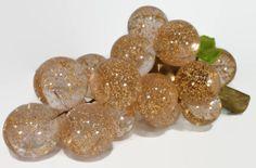 retro lucite grape acrylic grape gold glitter by gillardgurl, $40.00