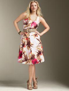 Really pretty dress! Love the Print. $132.30 @talbots