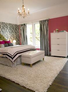 modern girly bedroom eclectic bedroom
