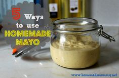 I make a 2 cup batch of homemade mayo about once a month. Because of the pastured eggs and real cold pressed olive oil, this mayonnaise has a lot of flavor already ...