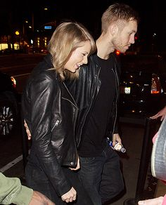 That's one hot escort! One day after Us Weekly broke news that Taylor Swift and Calvin Harris are (for real!) dating, the new couple ventured out to a West Hollywood benefit concert at the Troubadour on Thursday, April 2. Making the outing even more adorable? They coordinated in black leather jackets!