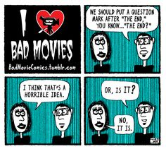 "I Love Bad Movies ""The End"" comic"