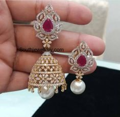 2 in 1 Diamond Choker plus Armlet and Convertible Jhumkis photo