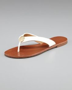 Thora Leather Thong Sandal - Neiman Marcus Love these!!! Have them in different colors