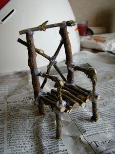Gwens Fairy Garden: Making fairy furniture - from mistakes to improved!