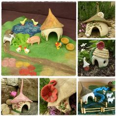 Gnome home,  Felted PlayScape by Rjabinnik and Rounien