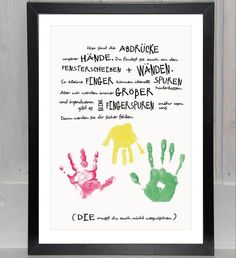 – jetzt auch *personalisierbar* – Unser *Handabdruck* in der *Geschwisterversi… – now * customizable * – our * handprint * in the * sibling version * in with enough space for * several children's hands *. (The open space is almost as big as a … Diy For Kids, Crafts For Kids, Lavatory Design, Kindergarten Portfolio, Kids Hands, Kids Corner, Tampons, Gifts For Family, Kids And Parenting