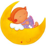 Anjo na Lua autocolante- Carla Antunes para Print My Wall / Angel on the moon sticker- Carla Antunes for Print My Wall