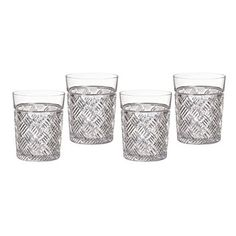marquis by waterford versa double old fashioned set of 4 - Bordeaux Louis Philippe Style Bedroom Furniture Collection