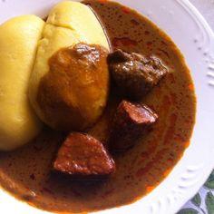 Ivory Coast : FOUTOU BANANE + SAUCE GRAINE  www.botilam.com