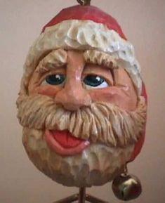 Carved Eggs, Carved Wood, Paper Mache, Wood Carving, Wood Crafts, Elf, Lion Sculpture, Santa, Statue