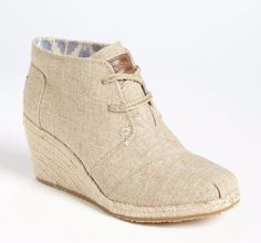 TOMS Natural Burlap Desert Womens Wedges Booties Shoes Size US 11  UK 9 #Toms…
