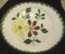 "Blue Ridge Potteries ""Green Briar"" platter.  Popular in the 1940's-50's.  GoAntiques.com."