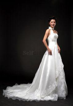 Hourglass Hall Court Train Long Thin Winter Sleeveless Misses A-Line Fall Wedding Dress