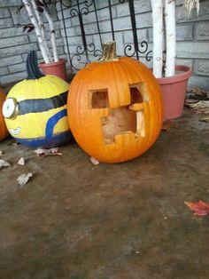 Minecraft creeper pumpkin