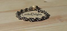 Black Natural Spiral Hemp bracelet by CordedDelights on Etsy, $4.00