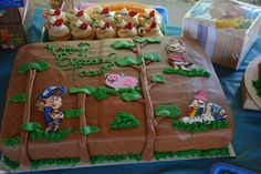 We had 80 people so she made a sheet cake and a Shack cake as well