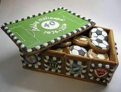 Cookie box full of soccer balls by Bocsi Csilla.