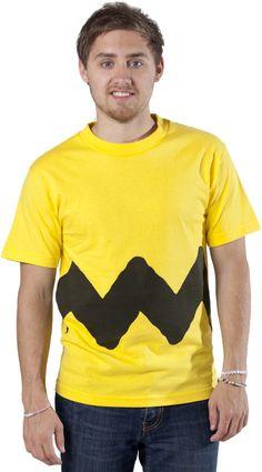 Yellow Charlie Brown Zig Zag Shirt