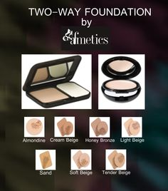 TWO-WAY FOUNDATION by Afmetics  Foundation and Powder all in one, our Two-Way Foundation evens out even the most difficult complexions  #Afmetics #beauty #facemakeup #2wayfoundation #Dubai #eye #makeup #foundation