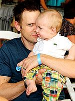 Joel McHale (with his baby!)