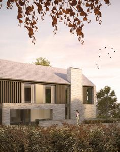 Rural housing development in the hampshire village of Selborne goes in for planning via Re-Format Architecture Country Modern Home, Modern Cottage, Modern Farmhouse, Contemporary Barn, Modern Barn, Rural House, Residential Architecture, Modern House Design, Building A House
