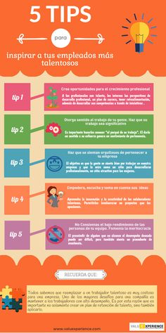 5 consejos para inspirar a tus empleados más talentosos #infografia