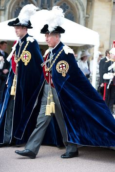 Prince William and Prince Charles attend the Order of the Garter Service