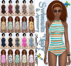 """Annett`s Sims 4 Welt: Swimsuits & Accessory Swimsuits """"Lady"""" • Sims 4 Downloads"""