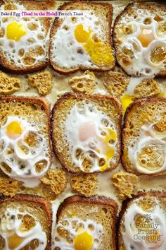 Baked Egg (Toad in the Hole) French Toast | MarlaMeridith.com