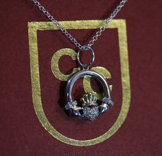Claddagh Ring // Charm // Necklace // Sterling Silver // Gold // Diamonds