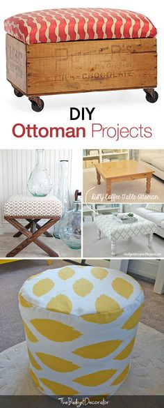 DIY Ottoman Projects • Tutorials and ideas!