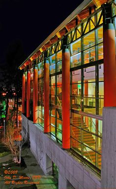 Northwest Museum of Arts and Culture. Spokane, Washington. Spokane Night photos