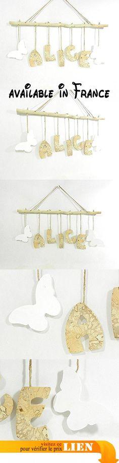 Prénom, lettres en bois, déco enfant / bébé, cadeau de naissance, mobile en bois avec prénom, fabrication artisanale française.  #Guild Product #GUILD_HOME