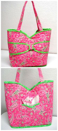 Put a Bow On It Quilted Bag PDF Pattern from Jo-Lydia's Attic