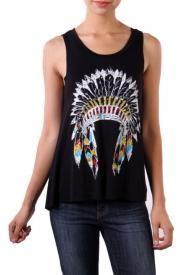 Indian Headdress tank top shirt | Elusive Cowgirl