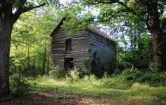 nestled huge old abandoned barn, North Carolina