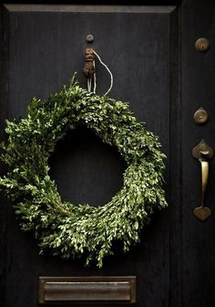Beautiful wreath More Christmas Wreaths, Decor, The Doors, Black Doors, Simple…
