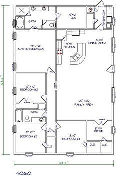 barndominium+floor+plans+40x60+5+bedroom+2+bathroom