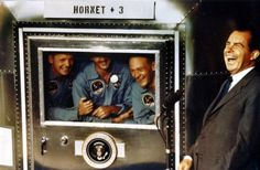 The Apollo 11 crew made Nixon laugh -- while they were still in the quarantine chamber !