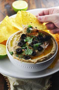 """Jalapeno Pinto Bean """"Hummus"""" - Host The Toast Taco Bar, Pinto Bean Hummus Recipe, Jalapeno Recipes, Cooking Recipes, Healthy Recipes, What's Cooking, Cooking Time, Pinto Beans, Bean Recipes"""