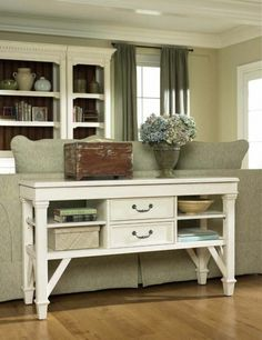 Long sofa table with storage