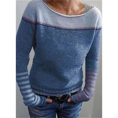 Long Sweaters, Pullover Sweaters, Sweater Cardigan, Sweaters For Women, Cheap Sweaters, Fall Knitting, Big Knits, Striped Knit, Pulls