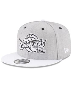 best service 4d005 0afe3 New Era Cleveland Cavaliers White Vize 9FIFTY Snapback Cap
